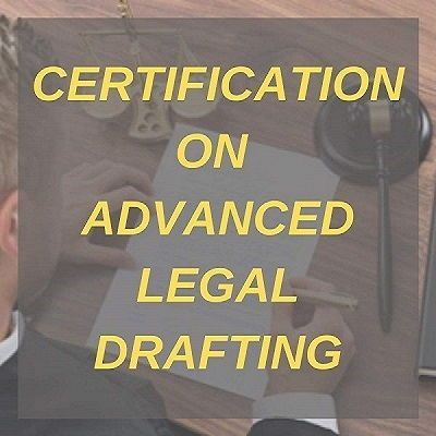 CERTIFICATE ON ADVANCE LEGAL DRAFTING
